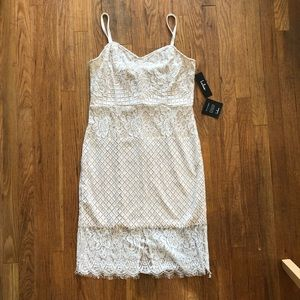 White knee length bodycon dress size XL